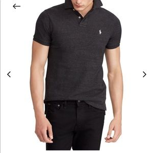 Ralph Lauren men's polo shirt in Charcoal Grey